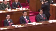 AFPTV Various of the opening of the National People's Congress China's parliamentChinese Vice President Xi Jinping Jia Qingling Chinese senior...
