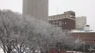Various shots around downtown New Haven of snow coming down steadily on Friday morning March 10 2017 at 830am