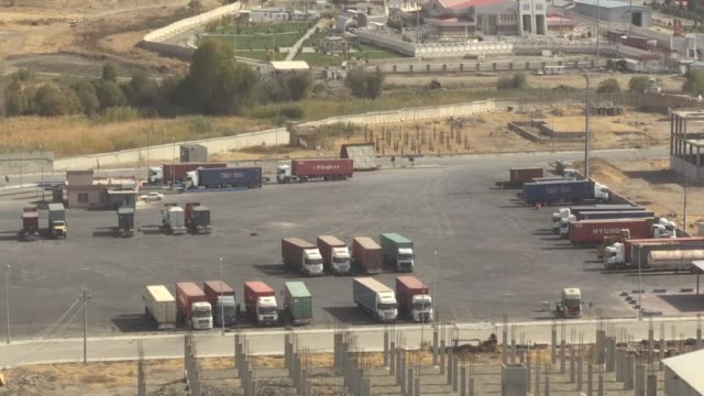 Various shots from Bashmaq crossing on OCtober 25 2017 in Sulaymaniyah Iraq Iran on Wednesday reopened a border crossing with northern Iraq's Kurdish...