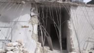 Various shots from damaged buildings in AlBab district of Aleppo Syria on March 27 2017 The people of AlBab are busy bringing the northern Syrian...
