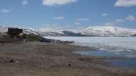 Various shots from frozen Lake Balik that stands at an altitude of 2241 meters in Agri Turkey on April 28 2017 When thick ice that corvers the lake...