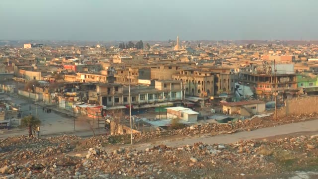 Various shots from the Daeshfree neighborhoods in eastern Mosul on January 23 2017 A military campaign aimed at capturing Daeshheld neighborhoods of...
