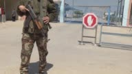 Various shots from the Erez crossing checkpoint in Beit Hanoun Gaza on March 26 2017 The Hamas movement has closed the Erez crossing between the...