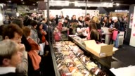 Various shots from the 'Le Salon du Chocolat' chocolate fair in Brussels Belgium February 06 2016 Creations made of chocolate are presented during a...