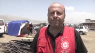 Various shots from the Qob Elias refugee camp after a big fire broke out on Sunday in Bekaa Lebanon on July 03 2017 Four Syrian refugees were killed...