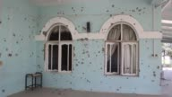 Various shots of a damaged mosque at a military base where the Taliban attack occurred last week in MazariSharif the capital of northern Balkh...