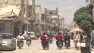 Various shots of AlBab town in Aleppo northern Syria on May 26 2017 AlBab residents Jalal Jadid and Yunus Menderes speak to reporters in AlBab which...