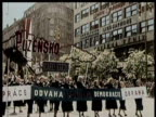 Various shots of Czechoslovakia's rich farmland and powerful industry / Nazi soldiers march in a military display / Adolph Hitler speaks at a podium /