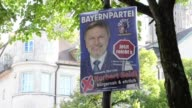 Various shots of electoral posters in Munich Bavaria ahead of national election on September 24th
