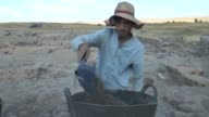 Various shots of Kultepe archaeological excavation site located some 25 kilometers from Kayseri Turkey on August 23 2017 Kultepe ancient mound...