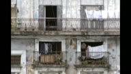 Various shots of older buildings located in Old Havana Cuba