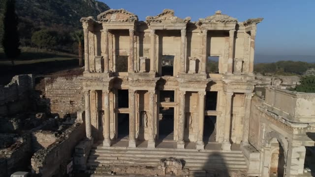 Various shots of the ancient city of Ephesus in the Aegean province of Izmir's Selcuk district western Turkey on November 19 2017