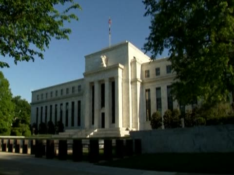 Various shots of the Federal Reserve System headquarters Washington