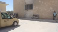 Various shots of the motorcycle police officers Free Syrian Police trained by Turkey on August 04 2017 in AlBab town of Aleppo Syria AlBab was...