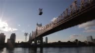 Various shots of the Queensboro Bridge and the Harlem River from Manhattan and Roosevelt Island in New York City New York on March 24 A wide shot of...