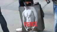 various views of an Abercrombie Fitch store in Manhattan / signage and exteriors / shoppers with AF bags Abercrombie Fitch on November 12 2012 in New...