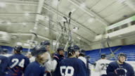 Various views of Johnstown Tomahawks ice hockey players practicing