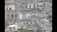 Various views of old and abandoned skyrises and buildings in Havana Cuba