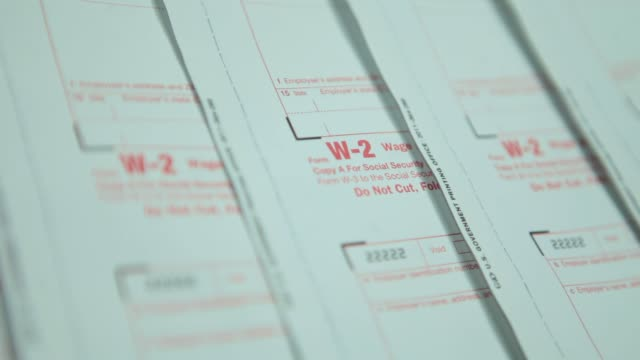 various views of W2 Tax forms W2 Tax Forms on December 17 2012 in Washington DC