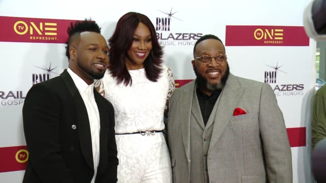 VaShawn Mitchell Yolanda Adams and Marvin Sapp at BMI Trailblazers of Gospel Music at Rialto Center for the Arts on January 14 2017 in Atlanta Georgia
