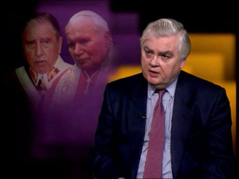 Vatican intervention in Pinochet extradition ENGLAND London GIR Int Lord Lamont interview SOT Find it inconceivable that Vatican would make...