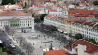 VDO:skyline view over Rossio Square.