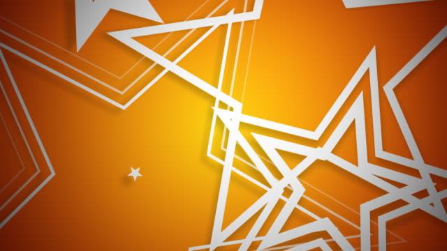Vector Stars White on Orange