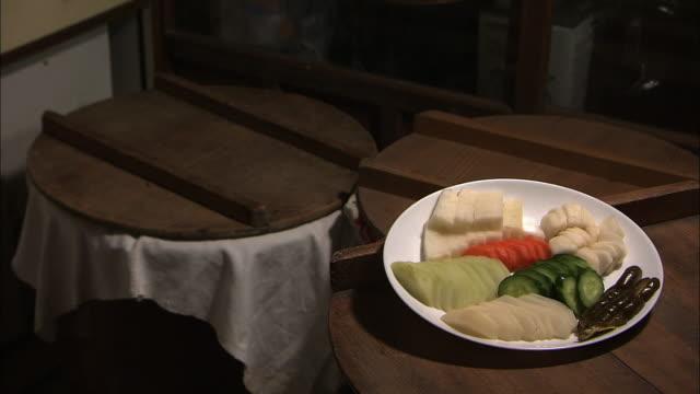 Vegetable Pickles By Its Crock, Fukuoka, Japan