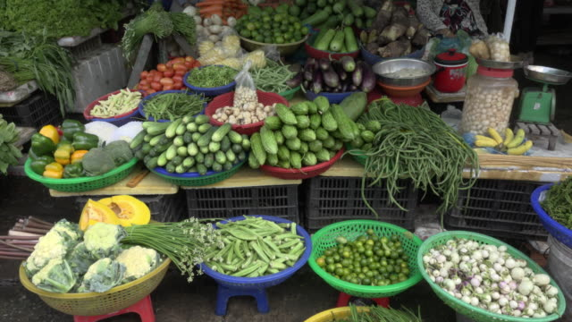 Vegetables on street market