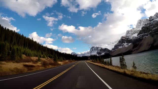 Vehicle driving on scenic road