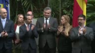 Venezuela and Spain are countries which have a lot in common because we are brother countries says Spain's Ambassador to Venezuela as mourners and...