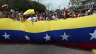 Venezuelan demonstrators in San Cristobal near the border with Colombia blocked main roads on Monday to protest against the government of President...