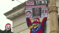 Venezuelans and Argentines gathered in front of Buenos Aires University's law school Sunday in protest against the vote to elect a constituent...