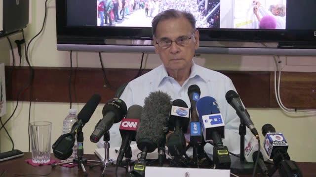 Venezuela's Ambassador to Cuba Ali Rodriguez Araque calls his country's election of a constituent assembly a clear decisive defeat of Mr Trump at a...
