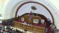 Venezuela's Defense Minister Vladimir Padrino attended a session of the Constituent Assembly which approved an agreement of support for the armed...