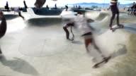 Venice Beach Cinemagraph Parallax Jumping Skater  4K
