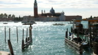 Venice italy over canal and gondola