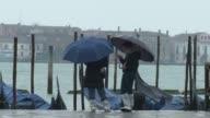 Venice was preparing for an acqua alta overnight a phenomenon when the combination of high tides and heavy rain can lead to flooding CLEAN Heavy rain...