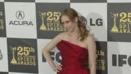 Vera Farmiga at the 2010 Film Independent's Spirit Awards Arrivals at Los Angeles CA
