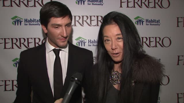 Vera Wang on Evan's work on this campaign and how thrilled she is to be a supporter at the Ferrero Chocolates and Evan Lysacek Fashion Event at New...