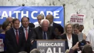 Vermont Senator Bernie Sanders begins a health conference introducing Medicare for all bill by arguing the American people are not interested in...
