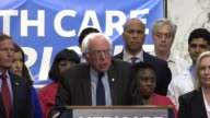 Vermont Senator Bernie Sanders tells media and supporters of universal health care coverage that the crisis in healthcare is not about healthcare but...