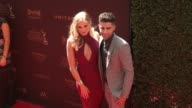 Veronica Dunne and Max Ehrich at 43rd Annual Daytime Emmy Awards at Westin Bonaventure Hotel on May 01 2016 in Los Angeles California
