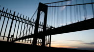 Verrazano Bridge - establishing shot - summer 2016 - sunset