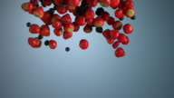 Vertical curtain - Red Fruits