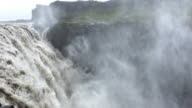 Very close-up of Dettifoss waterfall in Iceland