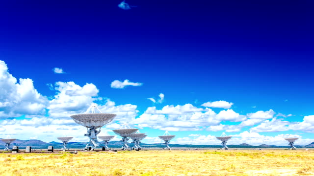 VLA Very Large Array radio telescope time lapse