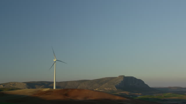 MS very large wind turbine on hill, RED R3D 4k