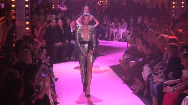 Very sexy Bella Hadid and other models on the runway of Alexandre Vauthier Couture Fall Winter 2017 fashion show in Paris on July 04 2017 in Paris...
