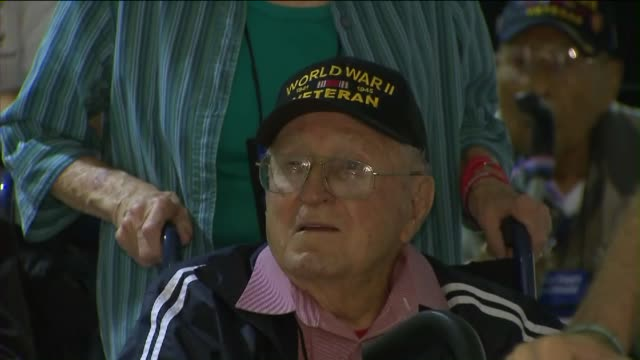 KTLA 70 vets took off from LAX on October 23 2015 on a trip organized by 'Honor Flight Southland' They're on a charted plane provided by American...